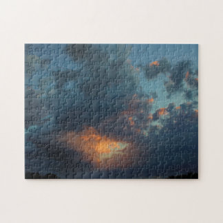 Northern Sunrise Sky and Clouds Summer 2016 Jigsaw Puzzle
