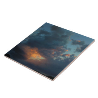 Northern Sunrise Sky and Clouds Summer 2016 Tile