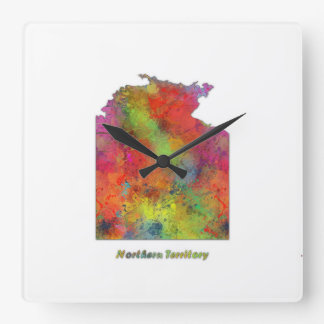 NORTHERN TERRITORY STATE MAP - Wall clock
