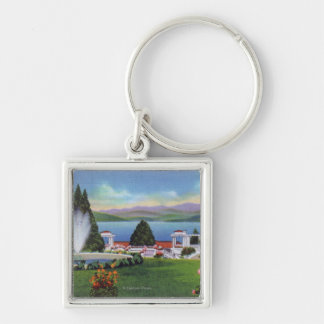 Northern View of Lake from Ft. William Henry Keychain