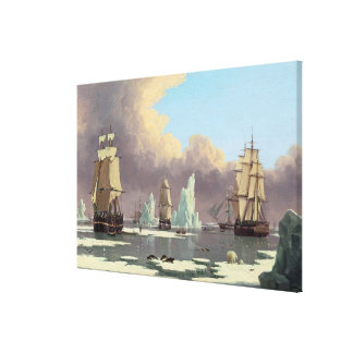 """Northern Whale Fishery: """"Swan"""" & """"Isabella"""" Canvas Print"""