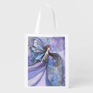 Northern Wind Fairy Fantasy Art Grocery Bag