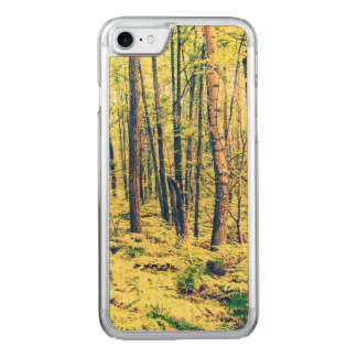 Northern Woodlands Vintage Style Carved iPhone 7 Case