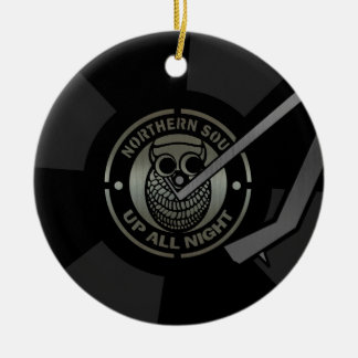 NorthernSoul vinyl on turntable Ceramic Ornament