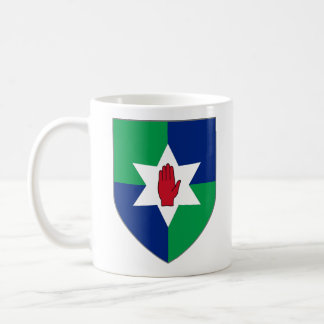 Northn Ireland Shield Mug - Star on Green & Blue