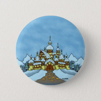 northpole holiday winter 2 inch round button