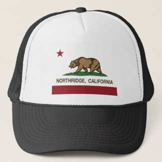 northridge california state flag trucker hat