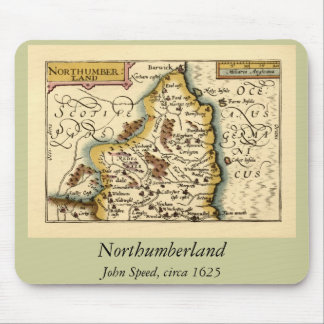 Northumberland County Map, England Mouse Pad