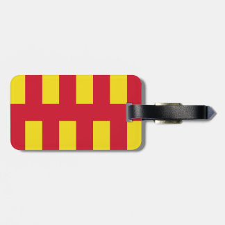 Northumberland Luggage Tag w/ leather strap
