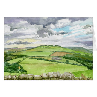 Northumberland Watercolor Landscape Card