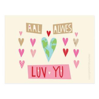 Northumbrian LOVE post card