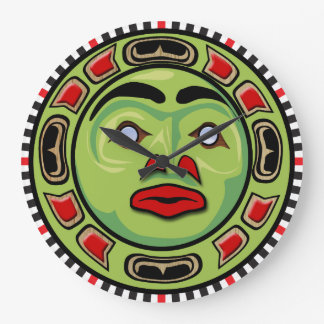 Northwest Coast Native American Mask Clock Design