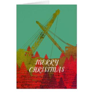 Northwest Crane Operating Engineer ART CHRISTMAS Card
