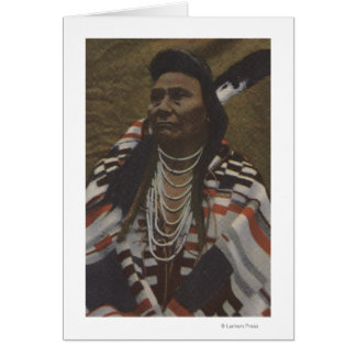 Northwest Indians - Chief Joseph of the Nez Card