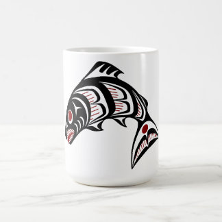 Northwest Pacific coast Haida art Basic White Mug