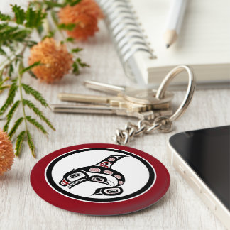 Northwest Pacific coast Haida art Killer whale Keychain