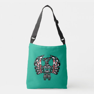 Northwest Pacific coast Haida art Thunderbird Crossbody Bag