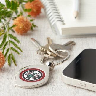 Northwest Pacific coast Haida art Thunderbird Silver-Colored Swirl Keychain