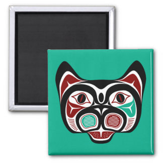Northwest Pacific coast Haida Kitty Magnet