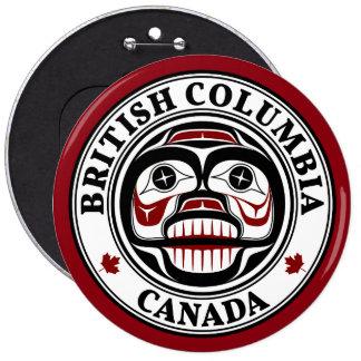 Northwest Pacific coast Haida Weeping skull 6 Inch Round Button