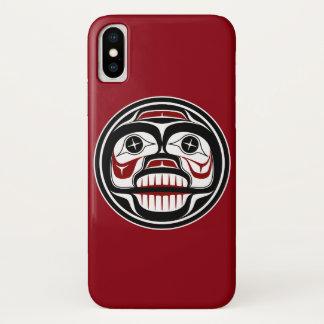 Northwest Pacific coast Haida Weeping skull iPhone X Case