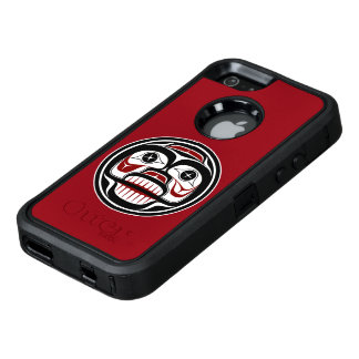 Northwest Pacific coast Haida Weeping skull OtterBox Defender iPhone Case