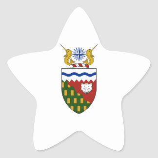 Northwest Territories (Canada) Coat of Arms Star Sticker