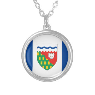 NORTHWEST TERRITORIES Flag Silver Plated Necklace