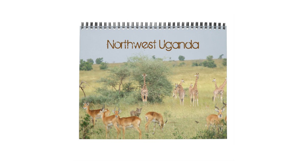Calendar Uganda : Northwest uganda wall calendars zazzle