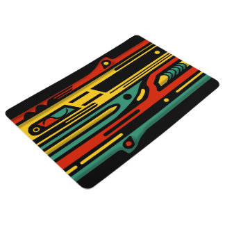 NORTHWEST VIBRANT ART DECO by Slipperywindow Floor Mat