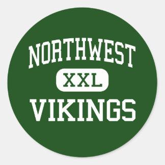 Northwest - Vikings - High - Clarksville Tennessee Round Sticker