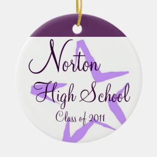 Norton High School Star Keepsake Ceramic Ornament