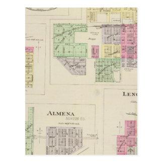 Norton, Lenora, Almena, Densmore, Almelo, Kansas Postcard