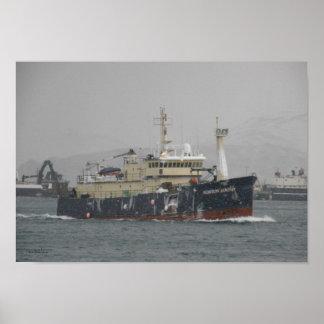 Norton Sound, Longliner in Dutch Harbor, Alaska Poster