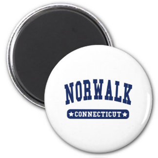 Norwalk Connecticut College Style tee shirts 2 Inch Round Magnet