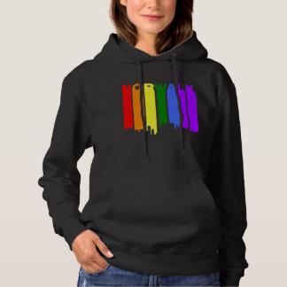 Norwalk Connecticut Gay Pride Rainbow Skyline Hoodie