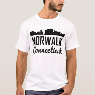 Norwalk Connecticut Skyline T-Shirt