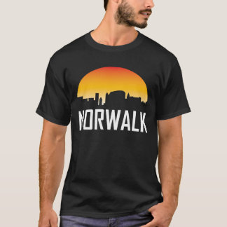 Norwalk Connecticut Sunset Skyline T-Shirt