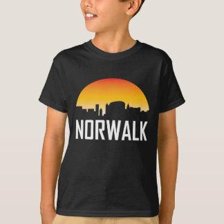 Norwalk Connecticut Sunset Skyline T-Shirt