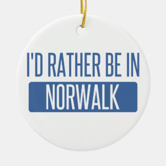 Norwalk CT Ceramic Ornament
