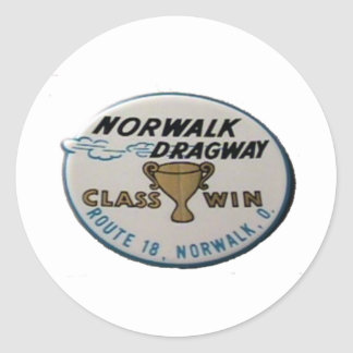 Norwalk Dragway Classic Round Sticker