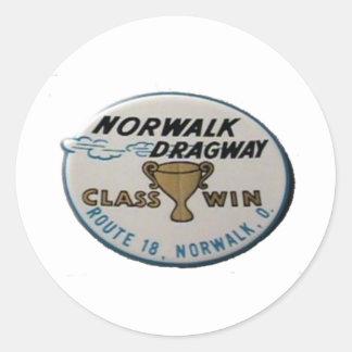Norwalk Dragway Round Sticker