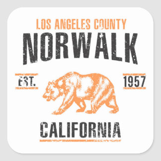 Norwalk Square Sticker