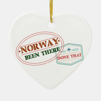 Norway Been There Done That Ceramic Heart Ornament