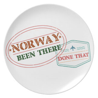 Norway Been There Done That Plate
