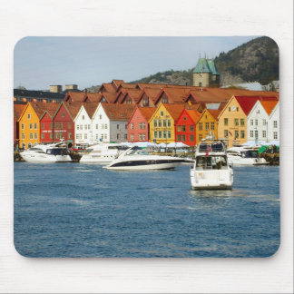 Norway, Bergen,Waterfront with marina Mouse Pad