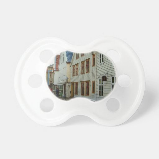 Norway, Bergen, wooden houses and cobbles Pacifier