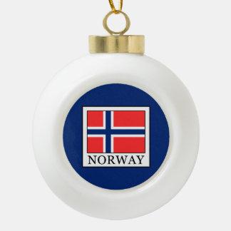 Norway Ceramic Ball Christmas Ornament
