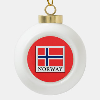 Norway Ceramic Ball Christmas Ornament