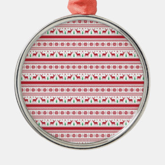 Norway Christmas Style Silver-Colored Round Ornament